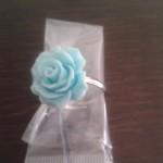 anello fatto a mano, rosa azzurra, hand made, bijoux artigianli