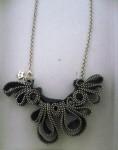 collana di cerniere, girocollo fato a mano, bijoux fatti con ceniere, i capricci di nico