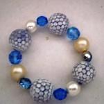 Bracciale azzurro e bianco